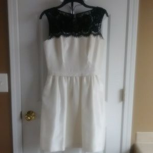 Dresses & Skirts - CREAM DRESS WITH BLACK LACE